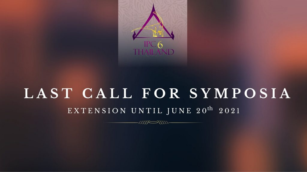 LAST CALL FOR SYMPOSIA